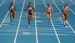 Sonia Tavares of Portugal, Artymata Eleni of Cyprus, Doris Roeser of Austria and Weronika Wedler of Poland compete in the Womens 200m Heat during day four of the 20th European Athletics Championships at the Olympic Stadium on July 30, 2010 in Barcelona, Spain. (Photo by Vid Ponikvar / Sportida)