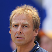 Head Coach Jurgen Klinsmann on the sideline during the US Men's National Team Vs Turkey friendly match at Red Bull Arena.  The game was part of the USA teams three-game send-off series in preparation for the 2014 FIFA World Cup in Brazil. Red Bull Arena, Harrison, New Jersey. USA. 1st June 2014. Photo Tim Clayton