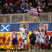 The United States defeat Argentina 19-21 in the Cup Quarter Finals of the USA Sevens,  Round Five of the World Rugby HSBC Sevens Series in Las Vegas, Nevada, Saturday March 4, 2017. <br /> <br /> Jack Megaw for USA Sevens.<br /> <br /> www.jackmegaw.com<br /> <br /> jack@jackmegaw.com<br /> @jackmegawphoto<br /> [US] +1 610.764.3094<br /> [UK] +44 07481 764811