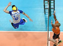 02-01-2020 SLO: Slovenia - Netherlands, Maribor<br /> Klemen Cebuljof Slovenia, Nimir Abdelaziz #14 of Netherlands during friendly volleyball match between National Men teams of Slovenia and Netherlands