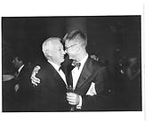 Stephen Daldry, Michael Craig-Martin(left). Centenary Gala dinner, Tate Gallery, London, 1st July 1997© Copyright Photograph by Dafydd Jones 66 Stockwell Park Rd. London SW9 0DA Tel 020 7733 0108 www.dafjones.com