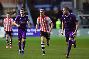 Jayden Stockley (11) of Exeter City during the EFL Sky Bet League 2 match between Exeter City and Grimsby Town FC at St James' Park, Exeter, England on 29 December 2018.