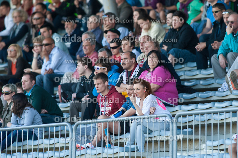 NK Triglav fans during football match between NK Triglav and NK Domzale in 23th Round of Slovenian First League PrvaLiga NZS 2012/13 on April 24, 2013 in Sports park Kranj, Slovenia. (Photo by Grega Valancic / Sportida)