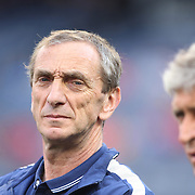 Manchester City Manager Manuel Pellegrini, (right), with  Assistant Manager Rubén Cousillas before the Manchester City Vs Liverpool FC Guinness International Champions Cup match at Yankee Stadium, The Bronx, New York, USA. 30th July 2014. Photo Tim Clayton