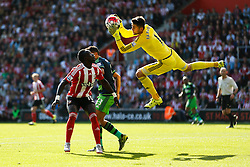 Swansea City's Lukasz Fabianski comes out to make a save - Mandatory by-line: Jason Brown/JMP - 07966 386802 - 26/09/2015 - FOOTBALL - Southampton, St Mary's Stadium - Southampton v Swansea City - Barclays Premier League