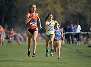 Nov 9, 2018; Sacramento, CA, USA; Juliana Mount (275) of Oregon State places 12th in the women's race in 19:54 during the NCAA West Regional at Haggin Oaks Golf Course.