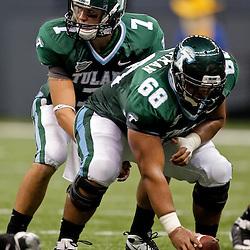 Sep 26, 2009; New Orleans, LA, USA;  Tulane Green Wave quarterback Joe Kemp (7) center at the Louisiana Superdome. Tulane defeated McNeese State 42-32. Mandatory Credit: Derick E. Hingle-US PRESSWIRE