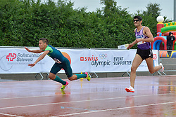 06/08/2017; de Souza, Samuel, T13, BRA, Mashhadian Khouzani, Mohammad, IRI at 2017 World Para Athletics Junior Championships, Nottwil, Switzerland