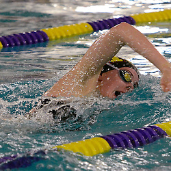 TOM KELLY IV &mdash; DAILY TIMES<br /> Maddie Hart, of Haverford swims in the 100m freestyle and takes first place during the Haverford at Upper Darby swim meet, Friday afternoon.