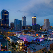 Sprint Center Arena, Power and Light District, Kansas City, Missouri downtown area.