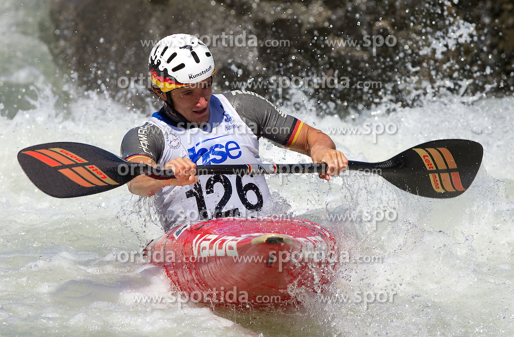 Sebastian Schubert of Germany competes during semifinal race at ICF Canoe Slalom World Cup Sloka 2011, on June 25, 2011, in Tacen, Ljubljana, Slovenia. (Photo by Vid Ponikvar / Sportida)