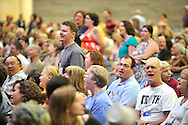 Synergy - Bridging. Coming of age in the 1990s group stands during song..© 2012 Nancy Pierce/UUA
