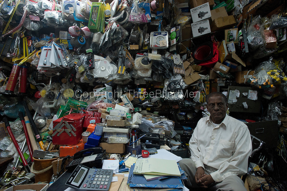 Mr. Koomar of Koomar & Co. near Chinatown, Port Louis. ...and in case you think this is chaos, he can find anything he has in stock within a couple of minutes.!