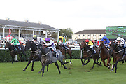 DARK SHADOW (2) ridden by Adam Kirby and trained by Clive Cox winning The Parkes Bros Roofing Contractors Handicap over 5f (£11,600)   during the opening day of the St Leger Festival at Doncaster Racecourse, Doncaster, United Kingdom on 11 September 2019.