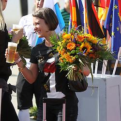 15.07.2014, Flughafen, Muenchen, GER, FIFA WM, Empfang der Weltmeister in Deutschland, Finale, im Bild Freundin Kathrin Gilch von Manuel Neuer #1 (Deutschland) // during Celebration of Team Germany for Champion of the FIFA Worldcup Brazil 2014 at the Flughafen in Muenchen, Germany on 2014/07/15. EXPA Pictures © 2014, PhotoCredit: EXPA/ Eibner-Pressefoto/ Kolbert  *****ATTENTION - OUT of GER*****