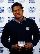 Club Rookie of the year Auvasa Falealii, Auckland rugby union awards dinner, Eden Park, Auckland. 28 October 2009. Photo: William Booth/PHOTOSPORT