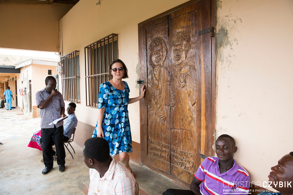 Dr. Susi Dattenberg-Doyle (Queen Mother of Gbi Kpoeta Ghana) visits the school in Hohoe, Ghana on September 5th, 2016.<br /> <br /> Cephas Bansag International Children Help E.V. Germany School teaches not only children but also cares for the education of nurses and medical staff and offers beds for students that have to travel a far distance.<br /> <br /> ***Togbe Ngoryifia Cephas Kosi Bansah of Gbi Traditional Area Hohoe Ghana and Traditional, Spiritual and Honorable King of the Ewes and his wife, Queen Mother Gabriele Akosua Bansah Ahado Hohoe Ghana***