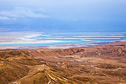 Dead Sea, Israel view from the Judaea Desert
