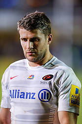 Saracens replacement Richard Wigglesworth looks dejected after his sides loss - Photo mandatory by-line: Rogan Thomson/JMP - 07966 386802 - 03/10/2014 - SPORT - RUGBY UNION - Bath, England - The Recreation Ground - Bath Rugby v Saracens - Aviva Premiership.
