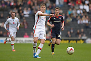 MK Dons striker Alex Revell during the Sky Bet Championship match between Milton Keynes Dons and Rotherham United at stadium:mk, Milton Keynes, England on 9 April 2016. Photo by Dennis Goodwin.