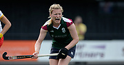 Surbiton's  Hollie Webb barks out instructions for the defence during their semi final of the EHCC 2017 at Den Bosch HC, The Netherlands, 3rd June 2017
