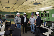 Oklahoma Secretary of Energy Teauge at the Western Farmers Electric Coop power generation plant in Anadarko, Oklahoma