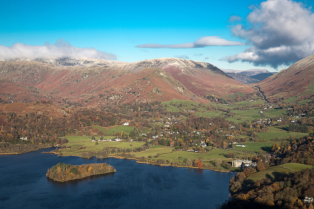 Looking down on Grasmere in the English Lake District.