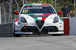 June 23, 2018 - Vila Real, Vila Real, Portugal - Gianni Morbidelli from Italy in Alfa Romeo Giulietta TCR of Team Mulsanne during the Race 1 of FIA WTCR 2018 World Touring Car Cup Race of Portugal, Vila Real, June 23, 2018. (Credit Image: © Dpi/NurPhoto via ZUMA Press)