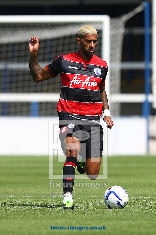 Picture by Rob Fisher/Focus Images Ltd +44 7450 945824<br /> 13/07/2013<br /> Armand Traore of Queens Park Rangers on the ball during the pre season friendly match at London Road, Peterborough.