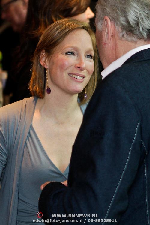NLD/Amsterdam/20120309 - Onthulling kleden voor Care & Fair, Prinses Margarita de Bourbon de Parme in gesprek met Peter Tuinman