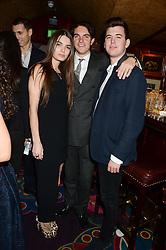Left to right, JENNIFER MEDHURST, VISCOUNT ERLEIGH and HAMISH EGGINS at Tatler Magazine's Little Black Book Party held at Annabel's, Berkeley Square, London on 5th November 2013.