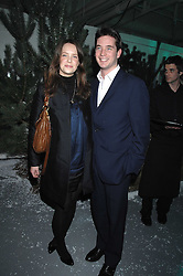 ARABELLA MUSGRAVE and the HON.JAMES TOLLEMACHE at a party to present the Fall/Winter Collection 2007/2008 of Moncler the French mountaineering brand held at 10 Mercer Street, London WC2 on 13th February 2007.<br />