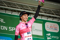 Coryn Rivera (USA) retains the points jersey at OVO Energy Women's Tour 2018 - Stage 3, a 151 km road race from Atherstone to Leamington Spa, United Kingdom on June 15, 2018. Photo by Sean Robinson/velofocus.com