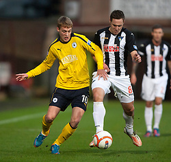 Falkirk's Jay Fulton and Dunfermline's Stephen Husband..Dunfermline 0 v 1 Falkirk, 26/12/2012..©Michael Schofield.