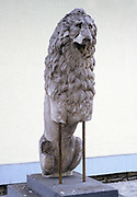 Carving of a lion, symbol of the royal house of Macedonia. Ancient Greek