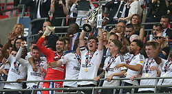 May 26, 2018 - London, England, United Kingdom - Fulham's Tom Cairney with Trophy.during the Championship Play-Off Final match between Fulham and Aston Villa at Wembley, London, England on 26 May 2018. (Credit Image: © Kieran Galvin/NurPhoto via ZUMA Press)