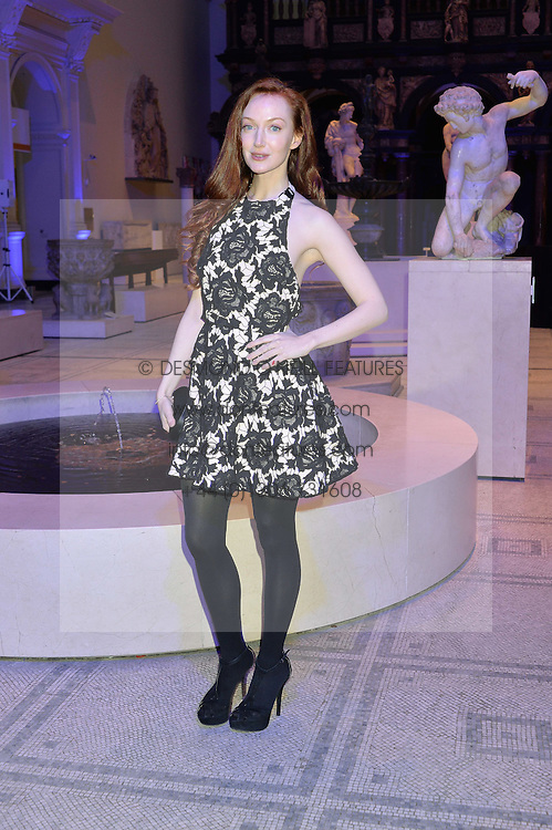 OLIVIA GRANT at a private view of Alexander McQueen's Savage Beauty exhibition hosted by Samsung BlueHouse at the V&A, London on 30th March 2015.