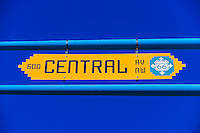 Street sign of Central Avenue NW (Historic Route 66) in Downtown Albuquerque, New Mexico USA