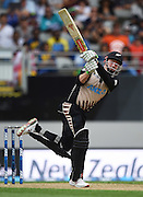 Colin Munro batting during his NZ record for the fastest Twenty20 50 runs. Twenty20 match between New Zealand Black Caps and Sri Lanka at Eden Park in Auckland, New Zealand. Sunday 10 January 2016. Copyright photo: Andrew Cornaga / www.photosport.nz
