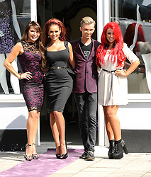 """Lizzy Cundy,Amy Childs,Harry Derbidge And Holly Hagan attend The Launch Of Her New Boutique Opening Of """"Amy Childs Boutique.""""Brentwood,Essex.London, Wednesday September 5, 2012"""