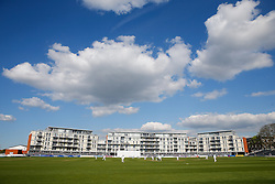 General View of the Bristol County Ground with Gloucestershire in to bat - Photo mandatory by-line: Rogan Thomson/JMP - 07966 386802 - 26/04/2015 - SPORT - CRICKET - Bristol, England - Bristol County Ground - Gloucestershire v Derbyshire — Day 1 - LV= County Championship Division Two.