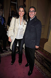 PROF.DAVID KHALILI and his wife MARRION he is the Iranian born scholar and philanthropist at a reception to launch Films Without Borders held The Lanesborough Hotel, London on 8th October 2009.