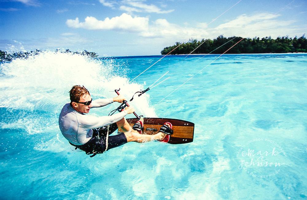Kitesurfing in Moorea, French Polynesia