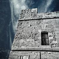 St Julian's Tower. Watch tower, erected in 1658 in Sliema, Malta.