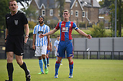 Conor Dymond pleads for a decision to go palace's way during the Final Third Development League match between U21 Crystal Palace and U21 Coventry City at Selhurst Park, London, England on 12 October 2015. Photo by Michael Hulf.