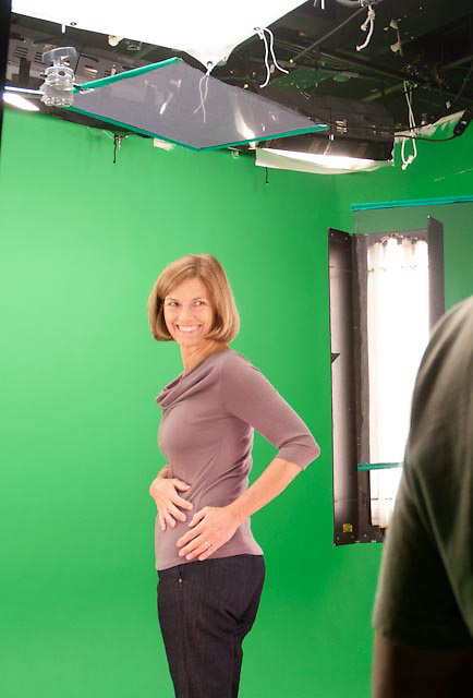 "Green Screen behind the scenes. The shoot titles, ""The Animated Woman"" was produced by Iomedia for Tylenol."