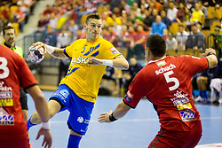Jaka Malus of RK Celje Pivovarna Lasko during handball match between RK Celje Pivovarna Lasko and Telekom Veszprem in 1st round of VELUX EHF Champions League, on September 16, 2017 in Arena Zlatorog, Celje, Slovenia. Photo by Ziga Zupan / Sportida