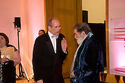 SANDY NAIRNE; TOM PHILLIPS, National Portrait Gallery fundraising Gala in aid of its Education programme, National Portrait Gallery. London. 3 March 2009 *** Local Caption *** -DO NOT ARCHIVE-© Copyright Photograph by Dafydd Jones. 248 Clapham Rd. London SW9 0PZ. Tel 0207 820 0771. www.dafjones.com.<br /> SANDY NAIRNE; TOM PHILLIPS, National Portrait Gallery fundraising Gala in aid of its Education programme, National Portrait Gallery. London. 3 March 2009