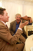 Nick Foulkes and Sir Terence Conran, Cartier Style Et Luxe, Goodwood, 27 June 2004. SUPPLIED FOR ONE-TIME USE ONLY-DO NOT ARCHIVE. © Copyright Photograph by Dafydd Jones 66 Stockwell Park Rd. London SW9 0DA Tel 020 7733 0108 www.dafjones.com