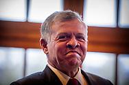 DEN HAAG - Premier Mark Rutte ontvangt Koning Abdullah II van Jordanie op het Ministerie van Algemene Zaken. De Jordaanse Koning is in Nederland vanwege de Aqaba-conferentie. ANP ROBIN UTRECHT